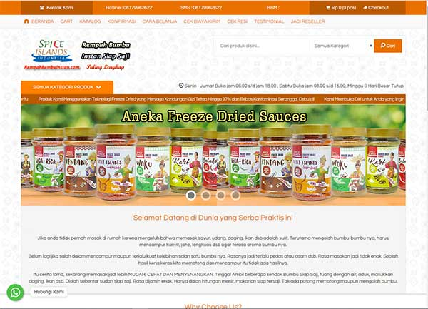 website rempah bumbu-instan